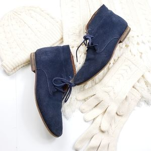 Franco Sarto | Blue Suede Leather Ankle Booties